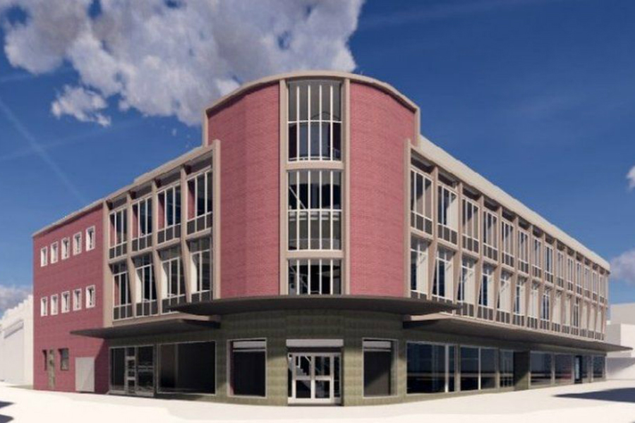 CGI of hotel and cinema plan for Southsea Knight & Lee store