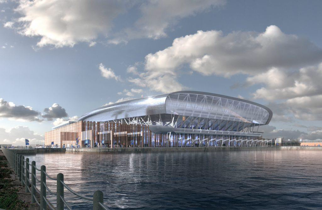 CGI of new Everton stadium. Image Dan Meis