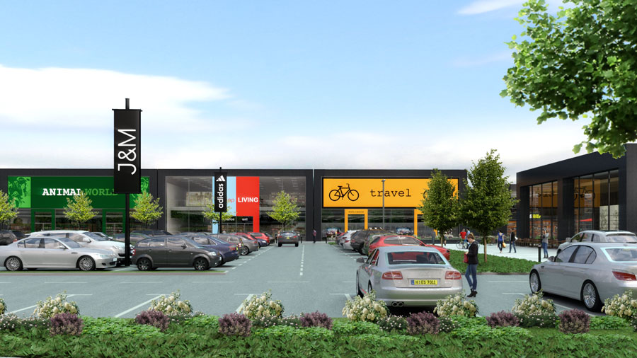 CGI of The Junction, Antrim (image: TSA Planning)