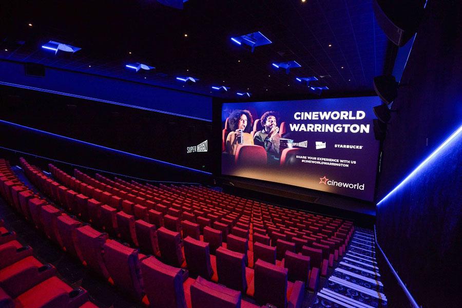 Auditorium at Time Square Cineworld, Warrington
