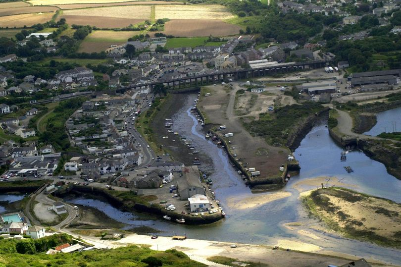 Aerial photo of Hayle Harbour, Cornwall