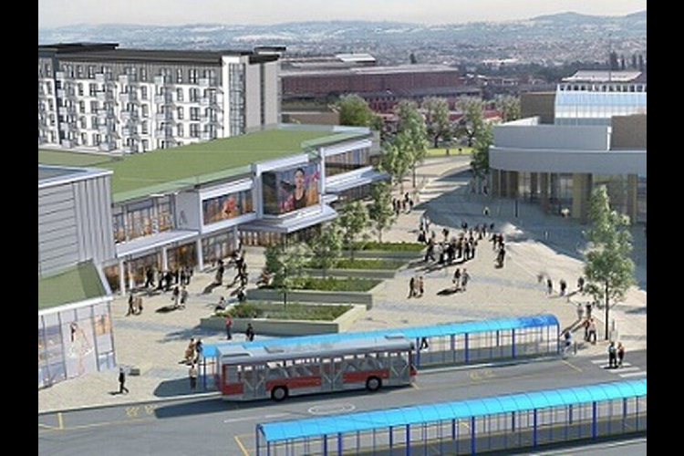 An artist's impression of Portersfield development which would transform the area around Cavendish House