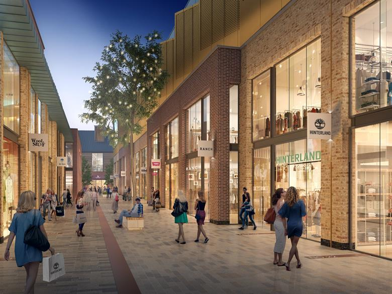 Artist impression of planned Glasgow Lifestyle Outlet