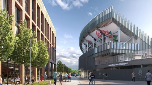 CGI of planned Old Trafford cricket ground