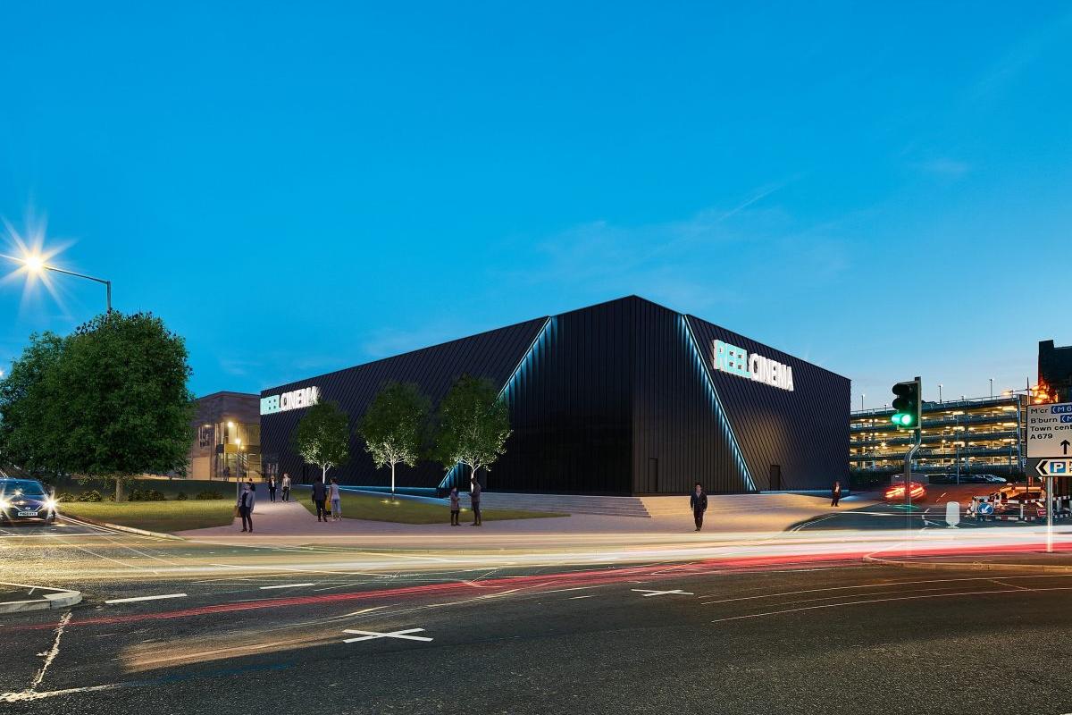 CGI of planned Reel Cinema for Burnley
