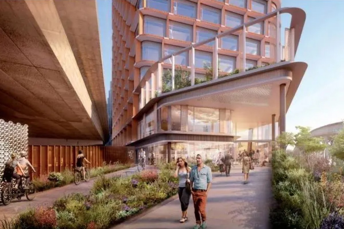 CGI of proposed Westway development