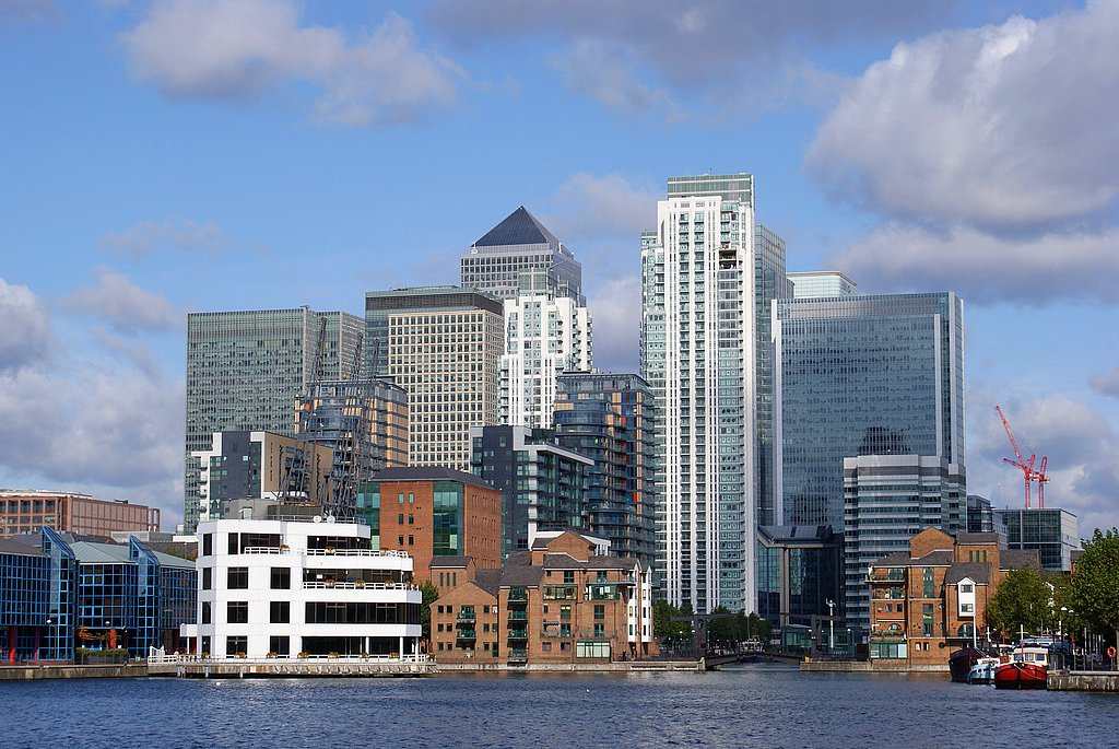 Canary Wharf . Photo: Wikimedia Commons