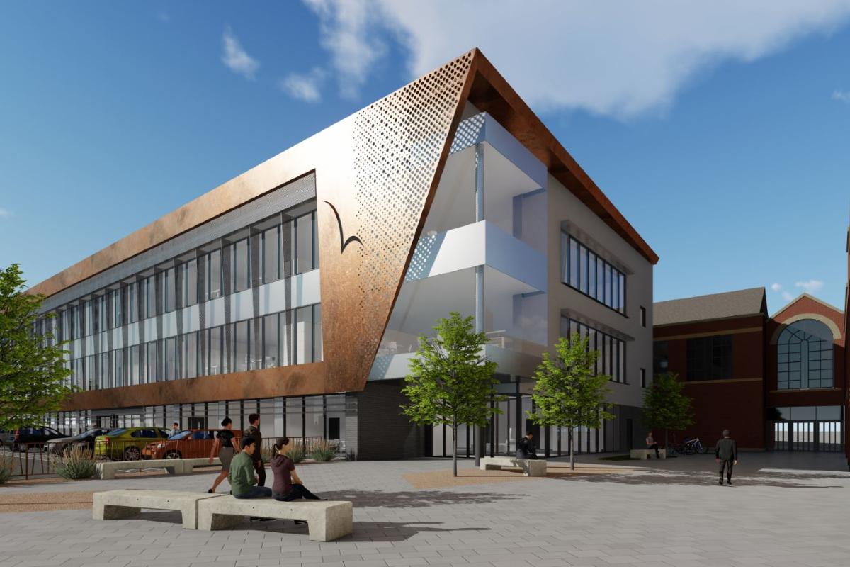CGI of proposals for Ellesmere Port