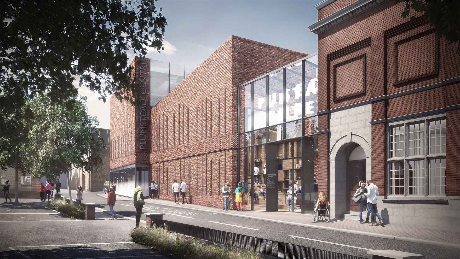 CGI of new Plumstead Library