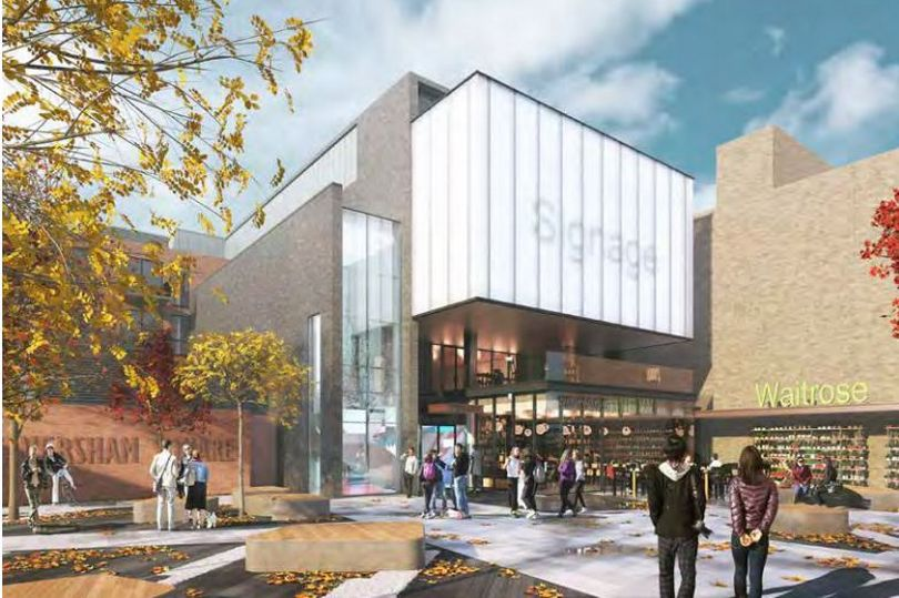 CGI of planned cinema/residential development for Caversham, Reading
