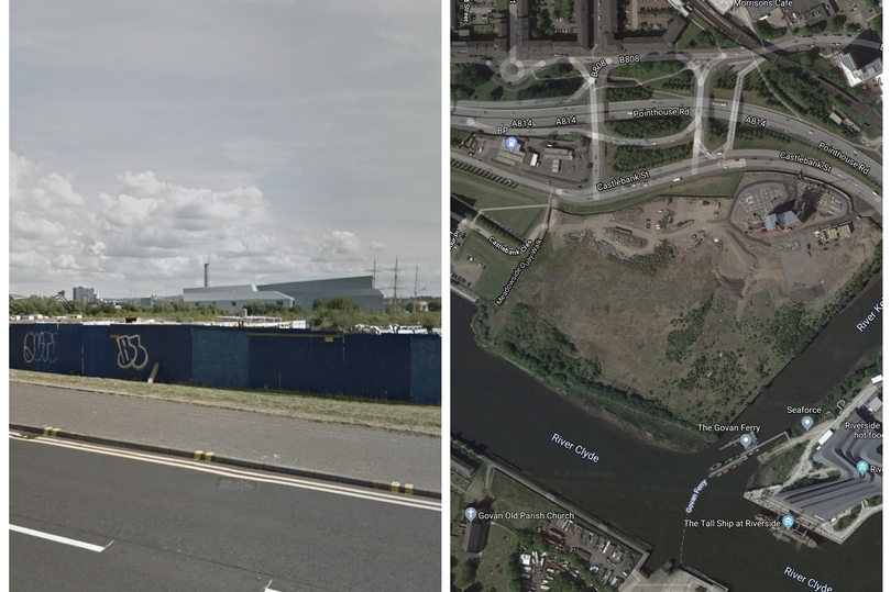 Site of proposed Clydeside development (Image: Google Maps)