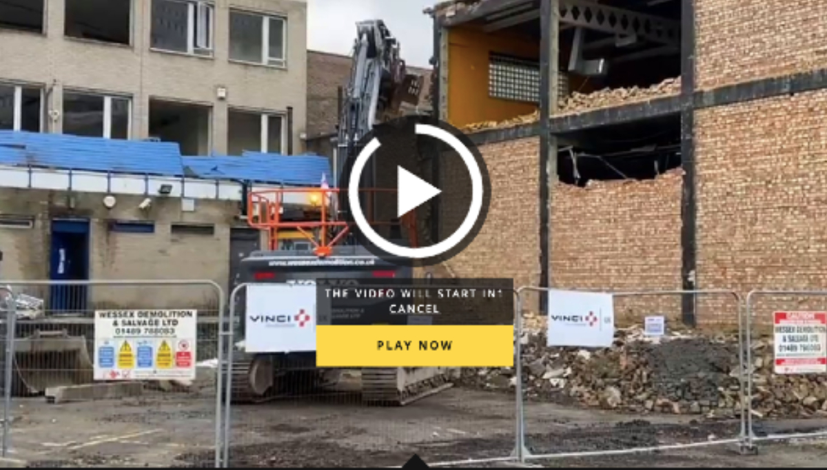 'Surrey Live' video of demolition in Redhill