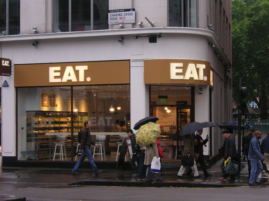 EAT outlet on Charing Cross Rd. Image: Wikipedia