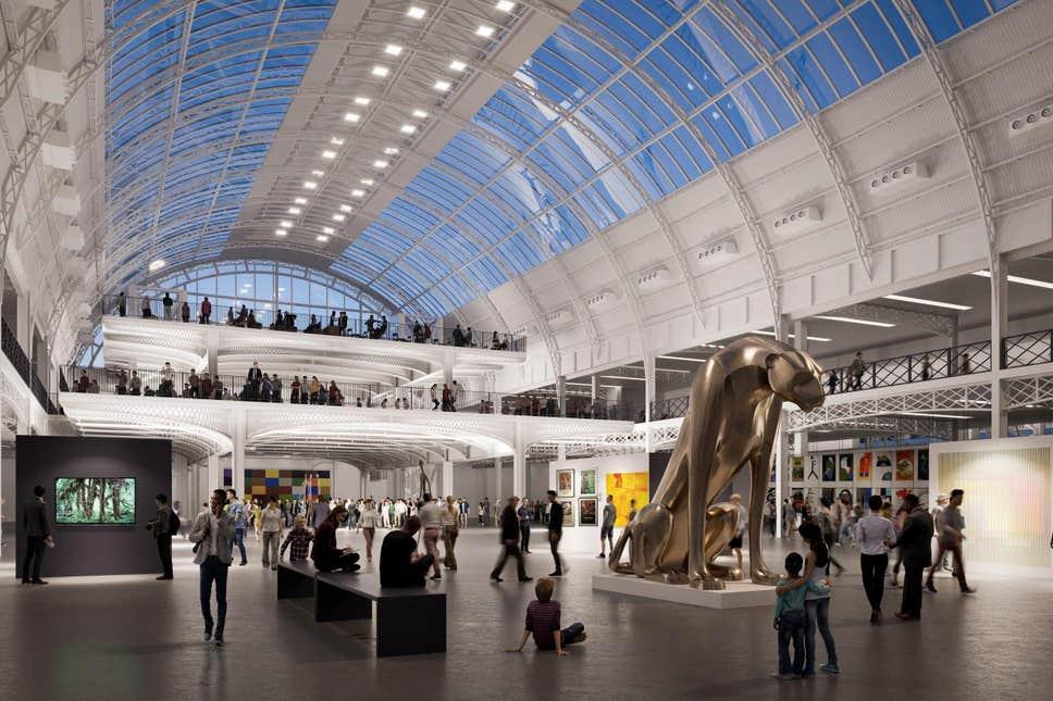 CGI of Olympia London regeneration