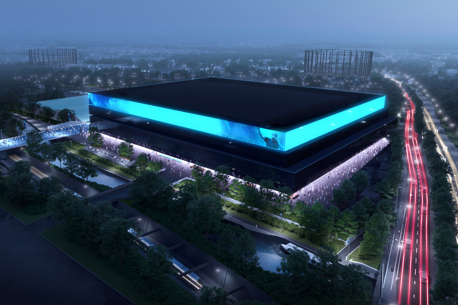 CGI of planned OVG Arena