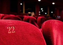 Cinema interior, close up on seat number 22