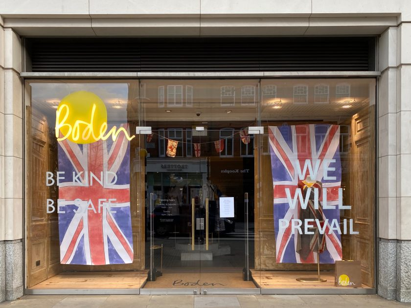 Closed UK shop, Boden, with Covid-19 messages Photo by John Cameron on Unsplash