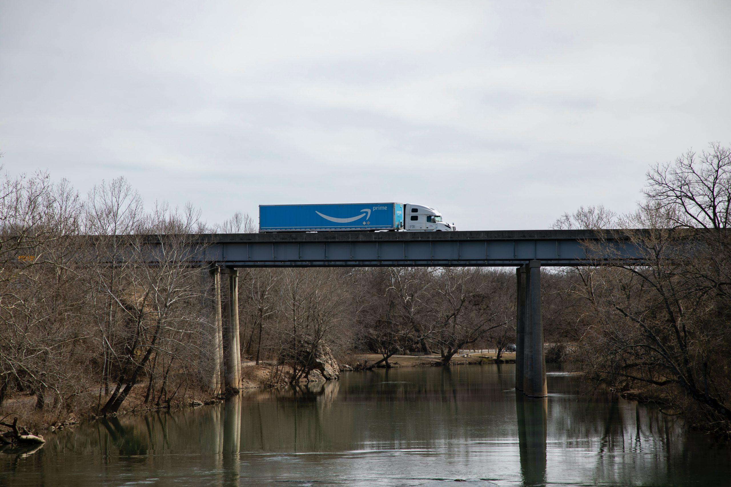 Amazon Prime truck. Photo by David Ballew on Unsplash