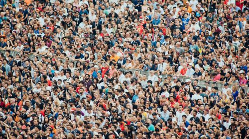 Sporting event crowd. Photo by cluttersnap on Unsplash