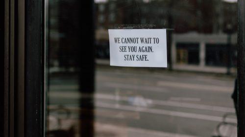 closed restaurant window. Photo by Kelly Sikkema on Unsplash