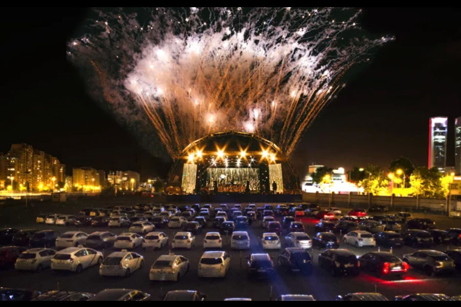 Artist's impression of what the drive-in concerts could look like. CREDIT: DRIVE IN ENTERTAINMENT AUSTRALIA