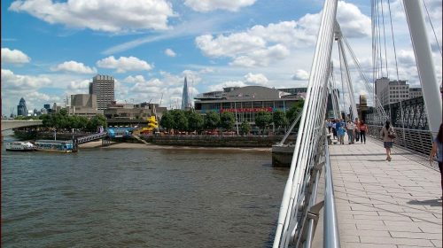 South Bank Centre from Jubilee Bridge. Photo by Brian Gillman/Wikimedia Commons