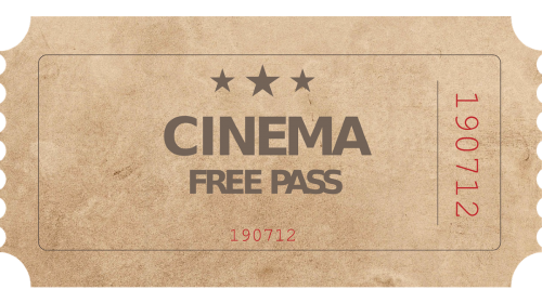 'cinema free pass' ticket