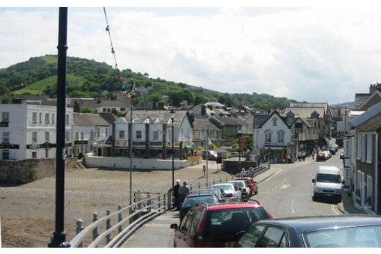 traffic jam in Combe Martin. Photo: Wikimedia Commons