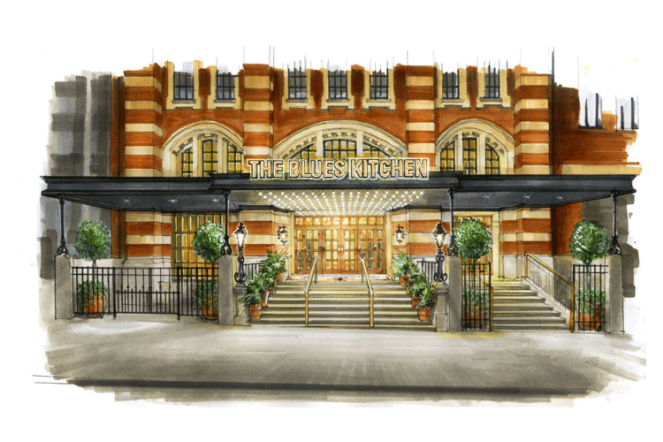 The Blues Kitchen, Manchester artist impression