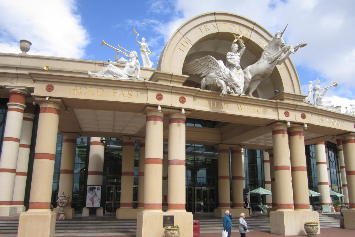 Trafford Centre entrance. Photo: Wikimedia Commons