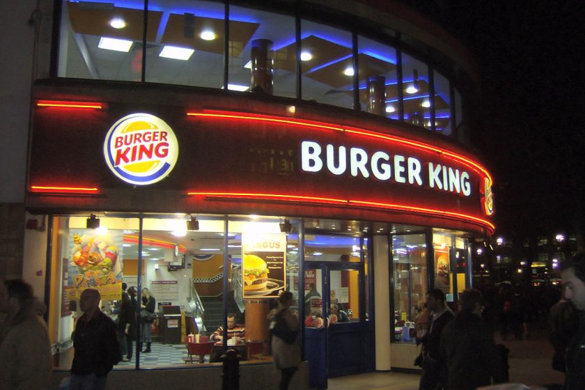 Burger King in London. Photo from Wikimedia Commons