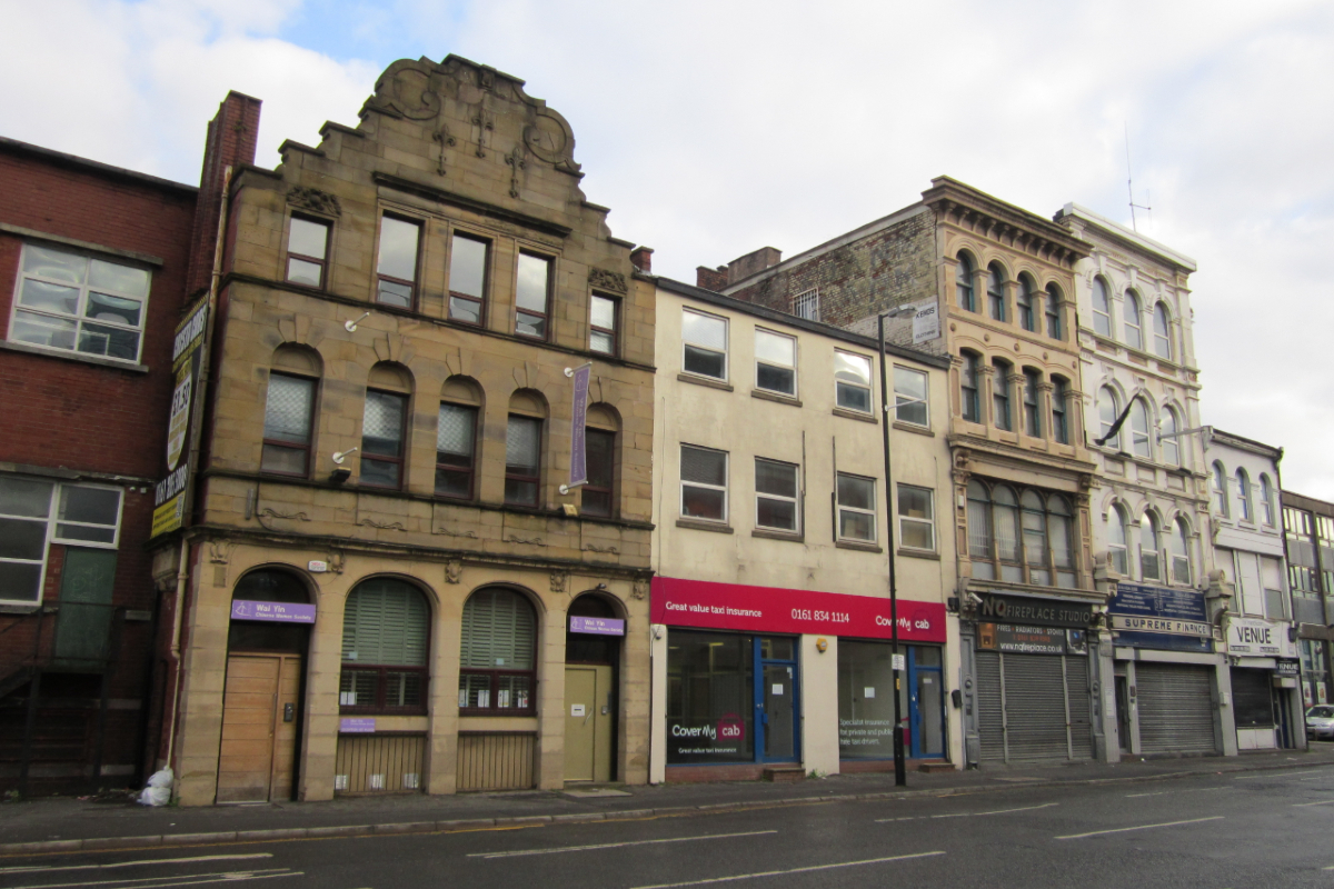 Buildings on Swan St, Manchester. Photo: Wikimedia Commons