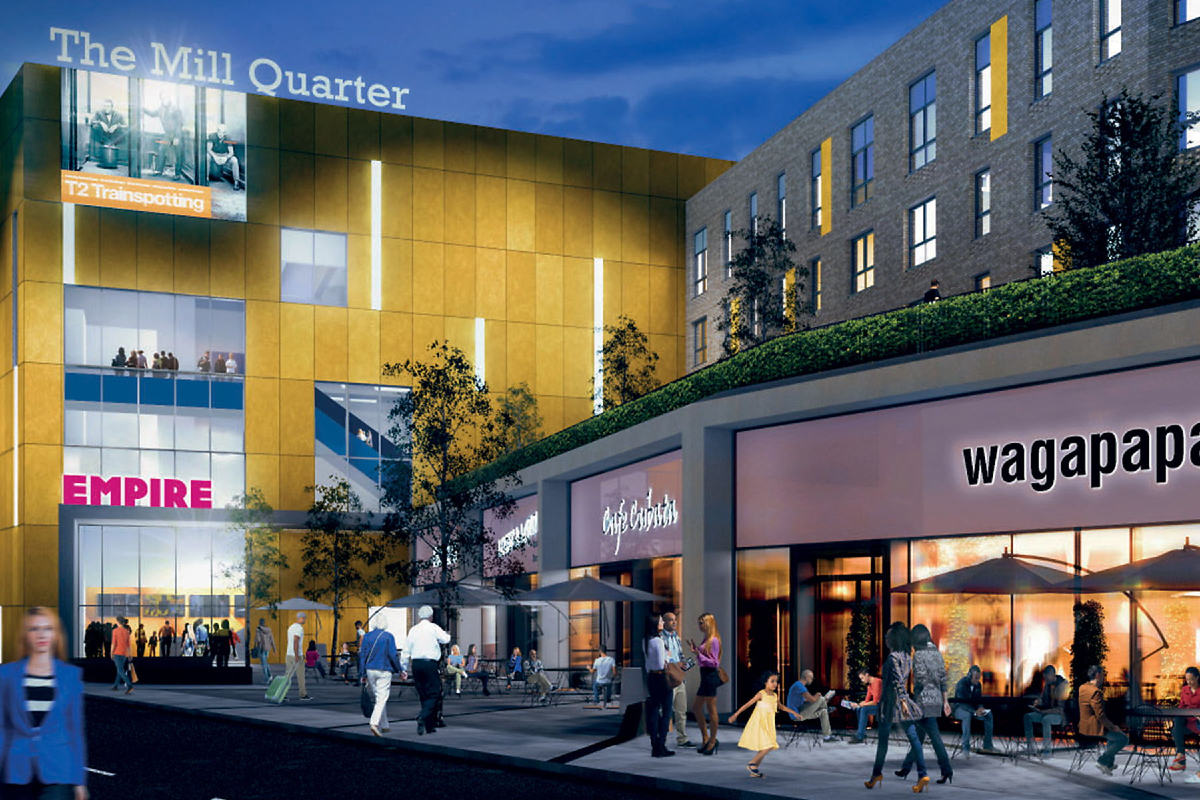 CGI of The Mill Quarter, Perth