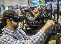 Driving VR video games. Photo from KWP