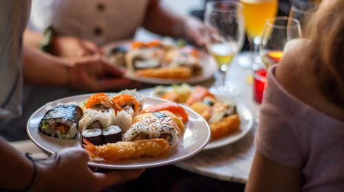Sushi served. Photo by Louis Hansel on Unsplash