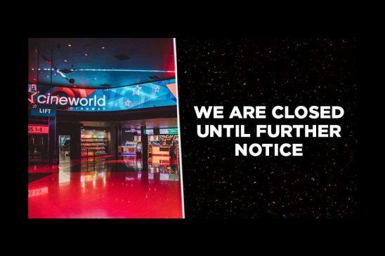 Cineworld closures homepage banner