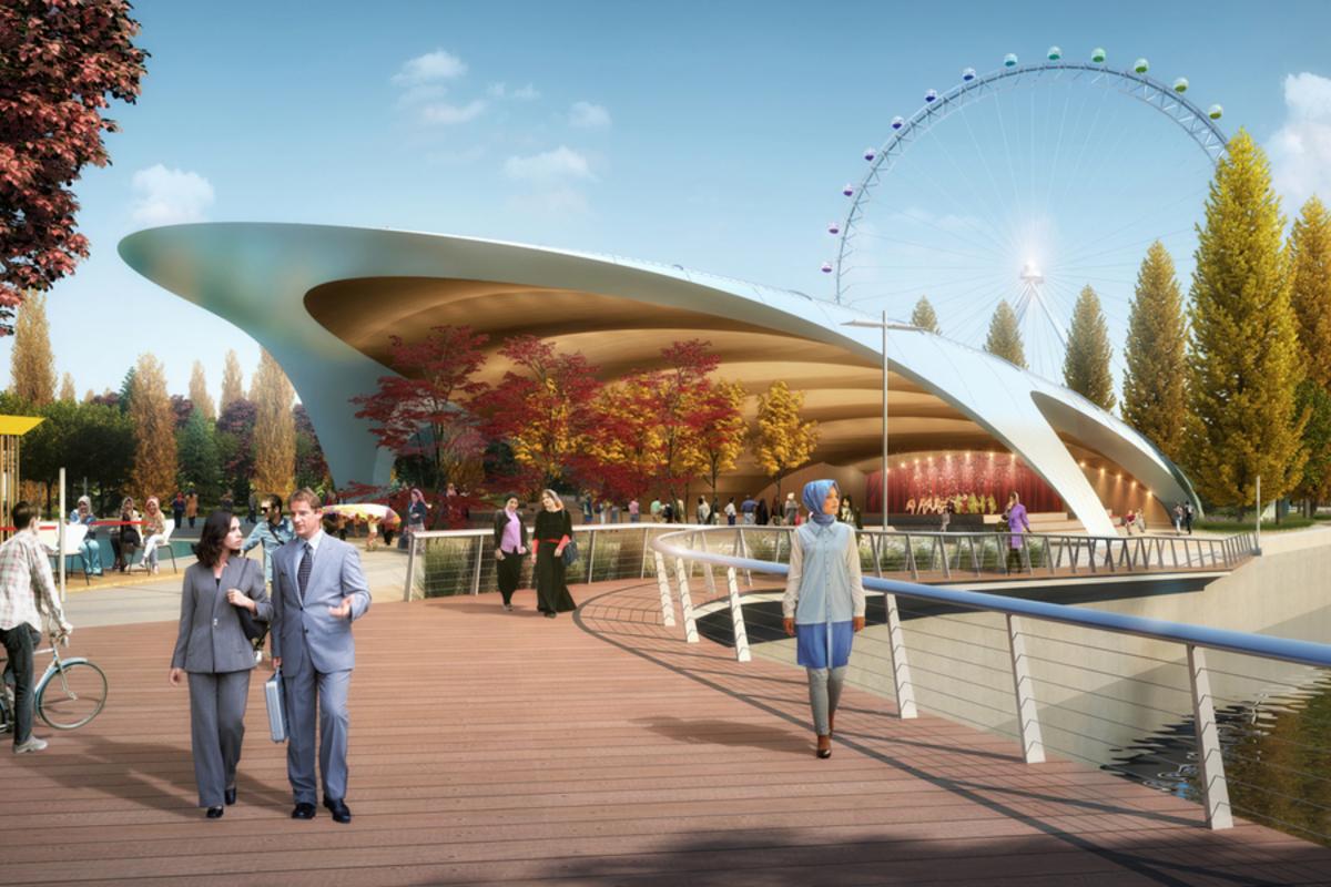 Grozny Mall, Kausar Park. CGI by Chapman Taylor