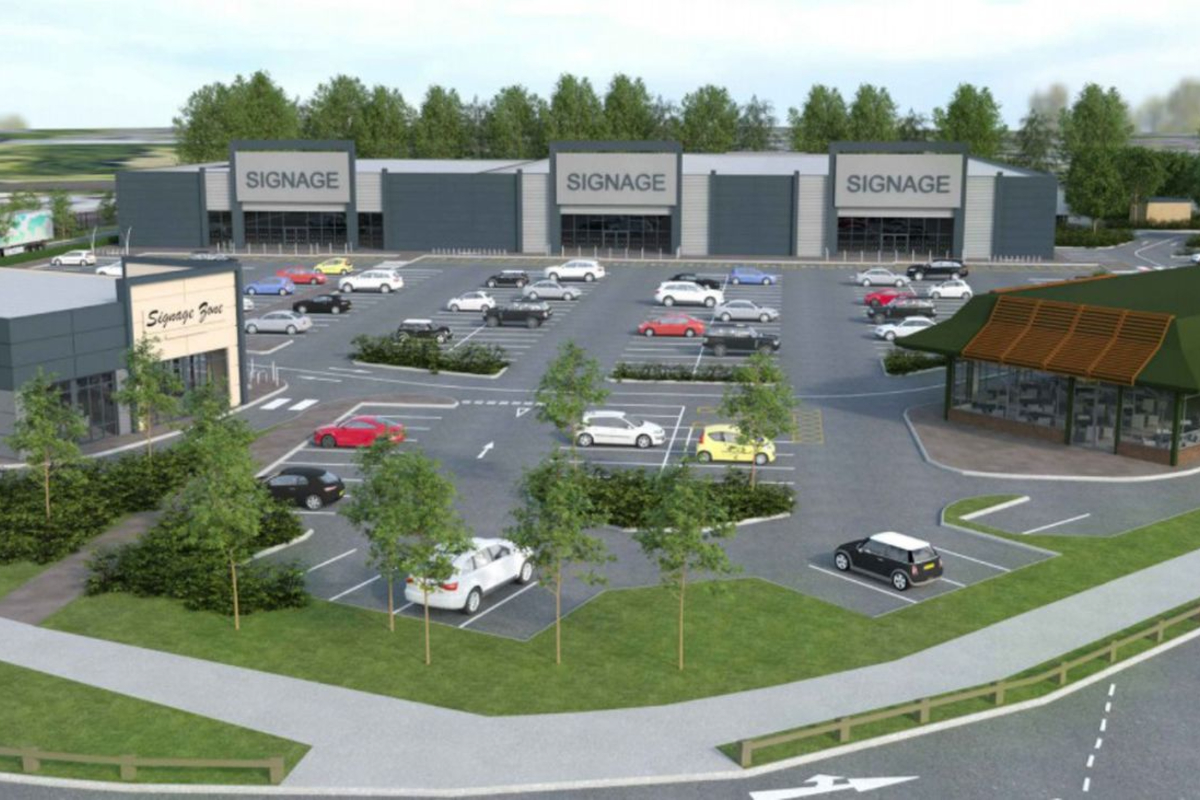 A computer generated image of the retail park which will occupy the former Toys 'R' Us store in Oldbury. Photo: Sandwell Council