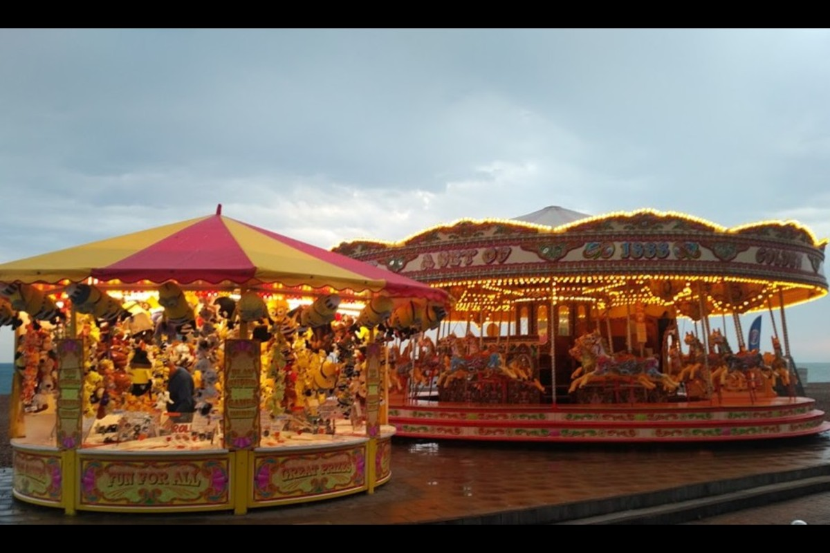 Fairground rides. Photo by KWP
