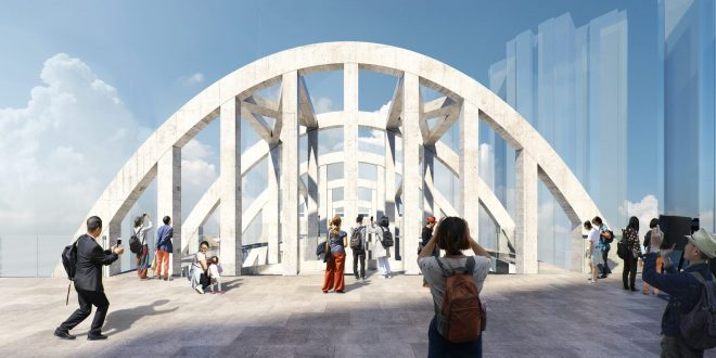 Unique architectural feature. Image: https://www.wilkinsoneyre.com/