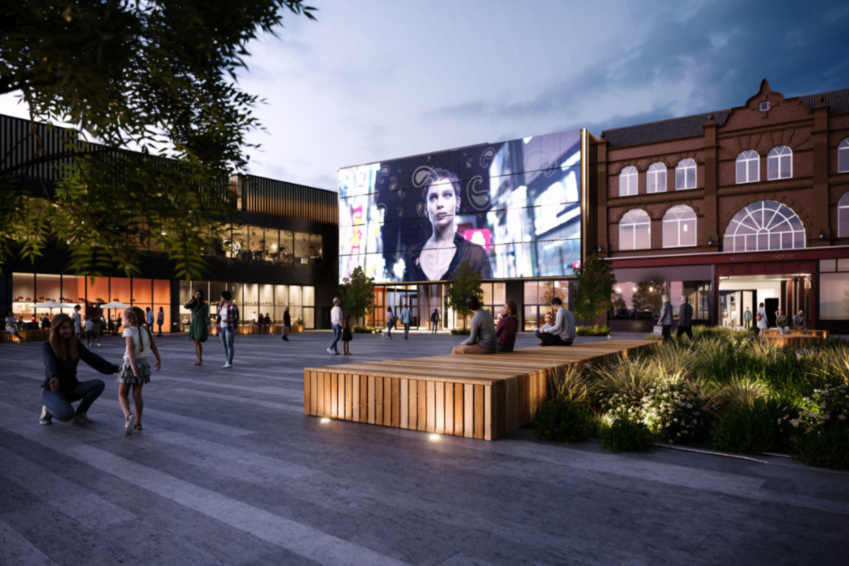 CGI of plans for Wigan Town Centre (image from Place North West)