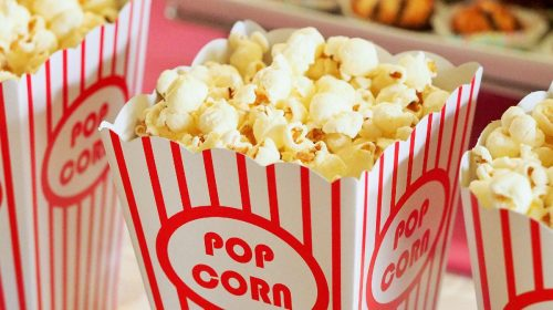 Cinema popcorn. Image by Devon Breen from Pixabay