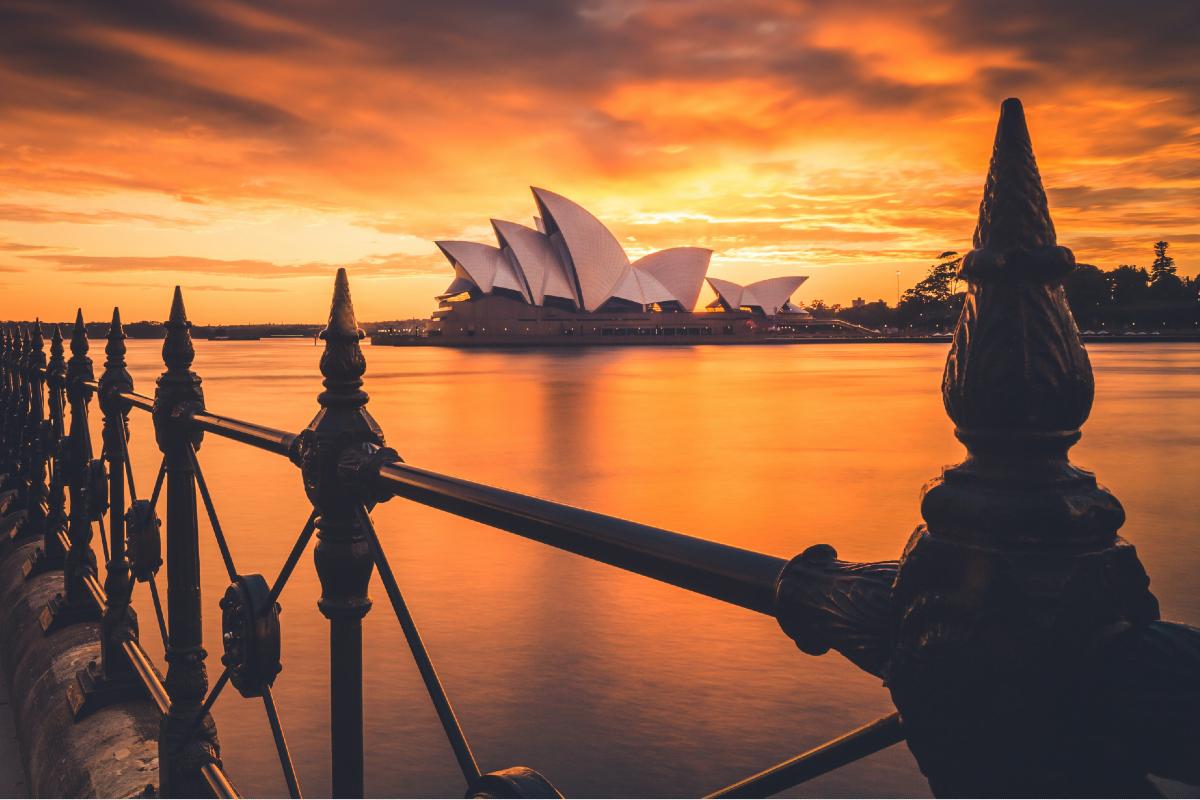 Sydney Opera House at sunset. Photo by Liam Pozz on Unsplash