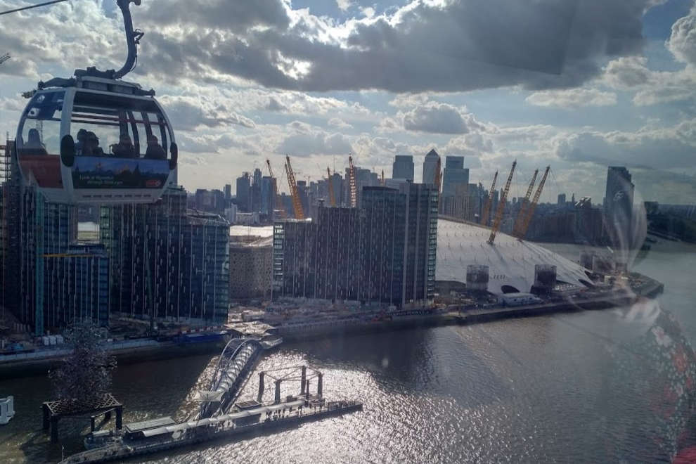 Millennium Dome with cable car – KWP