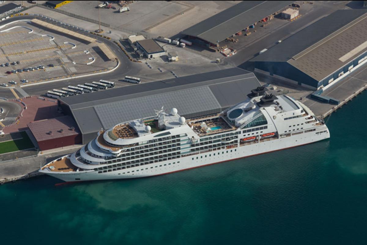 Cruise Liner in Abu Dhabi port