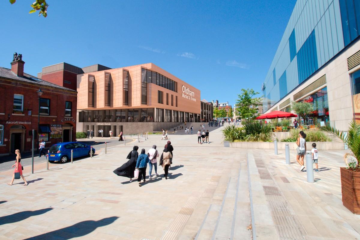 CGI: Spindles centre, Oldham
